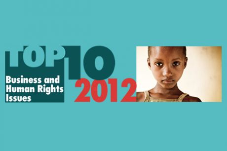 Publication of Top Ten Business and Human Rights Issues for 2013