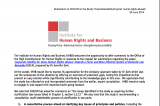 Submission to OHCHR on the Study: Corporate Liability for Gross Human Rights Abuses