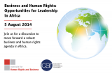 Business and Human Rights: Opportunities for Leadership in Africa - 5 August 2014