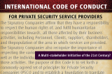 International Code of Conduct for Private Security Providers