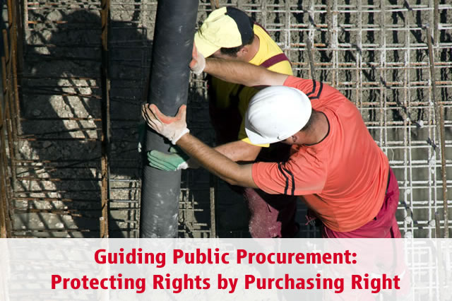 Guiding Public Procurement: Protecting Rights by Purchasing Right