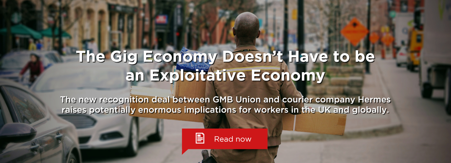 GMB Union and Hermes have struck a groundbreaking new recognition deal for gig economy workers.