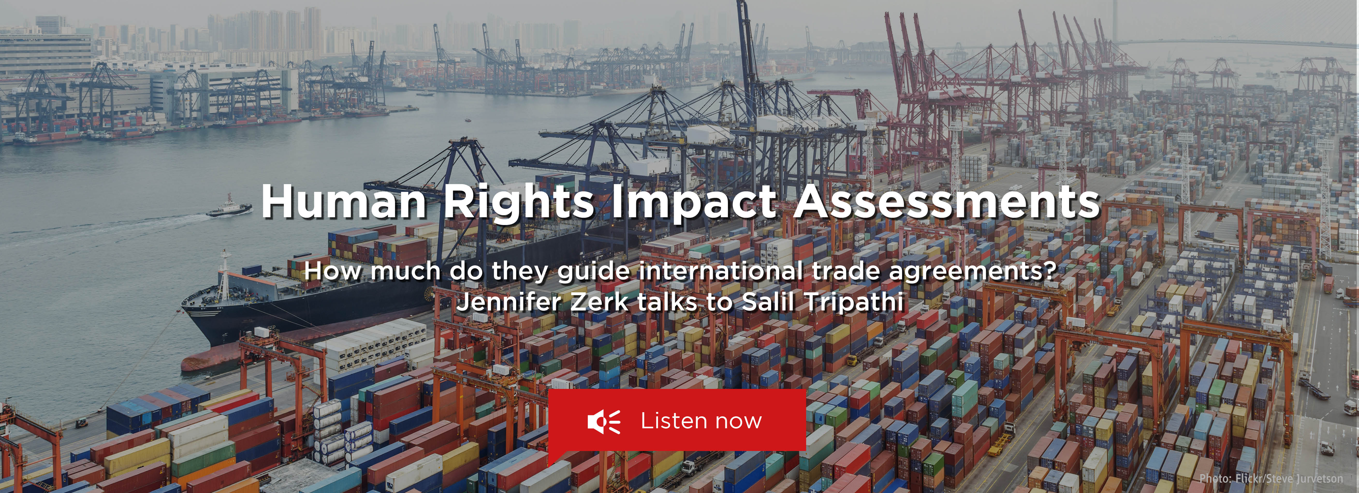 Jennifer Zerk on Human Rights Impact Assessments of International Trade Agreements