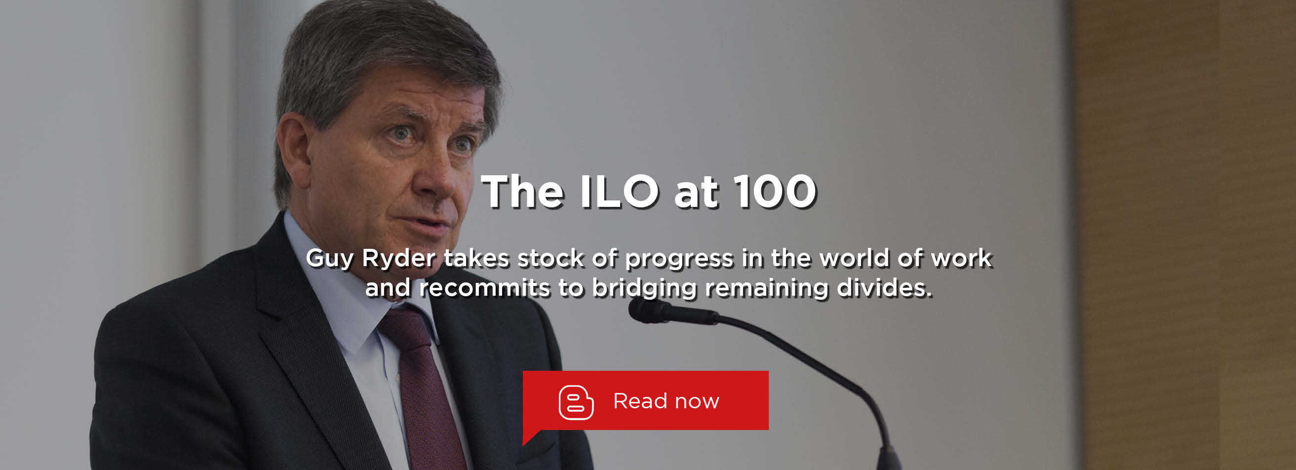 The ILO at 100: Looking Back, Moving Ahead