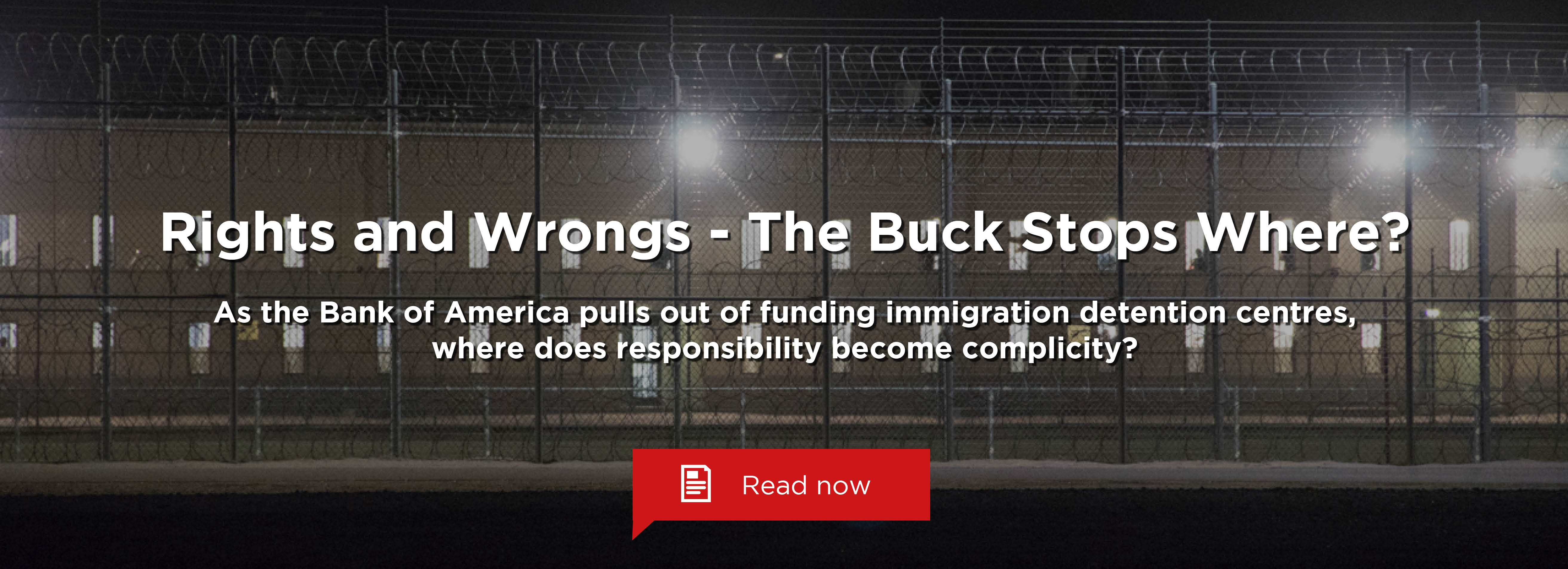 Rights and Wrongs - Where Does the Buck Stop?