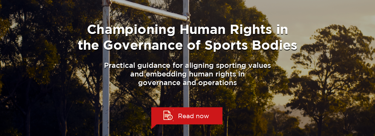 New guide: Championing Human Rights in the Governance of Sports Bodies