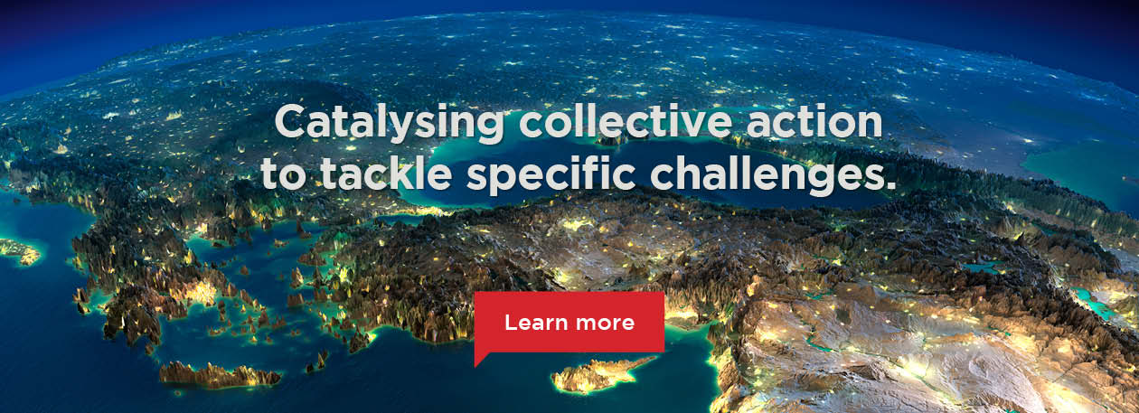 Catalysing collective action to tackle specific challenges.