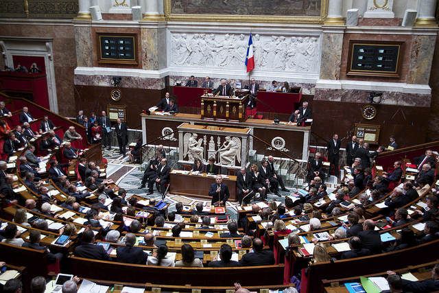 The Assemblée Nationale is the lower house of the French Parliament. Photo: Mathieu Delmestre