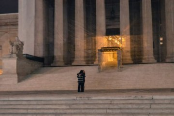 A couple embrace outside the Federal Supreme Court, awaiting the historic decision. Photo: Flickr/CoolRevolution