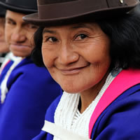 Smiling Colombian woman