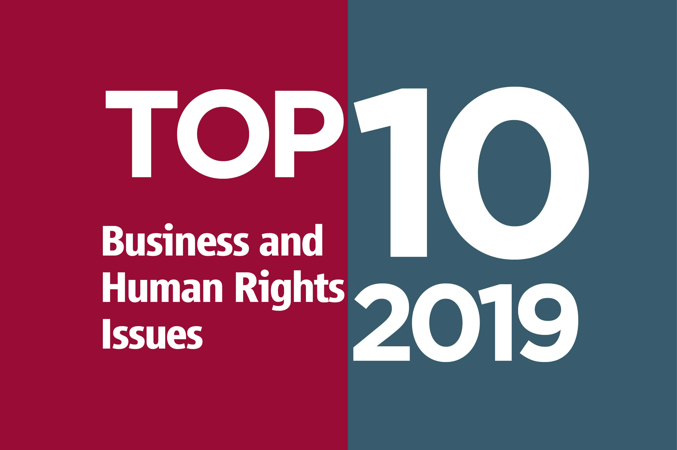 Top Ten Issues in 2019