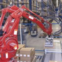 robotic machine on production line